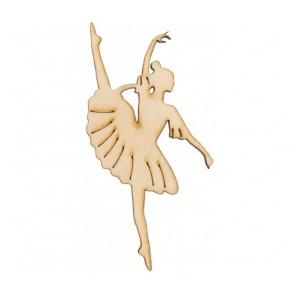 Ciondoli in Legno Ballerina 12 Pz.