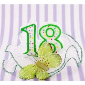 Candela 18 anni Farfalla Verde