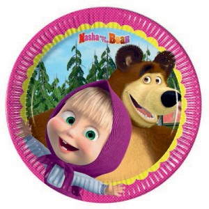 Masha e orso piatto piccolo