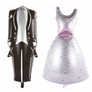 Palloncino Matrimonio vestito sposi