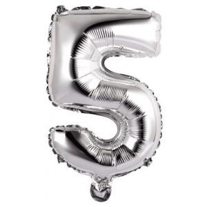 Palloncini Numero 5 argento