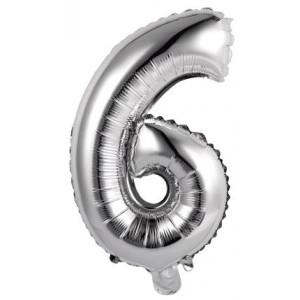 Palloncini numero 6 argento