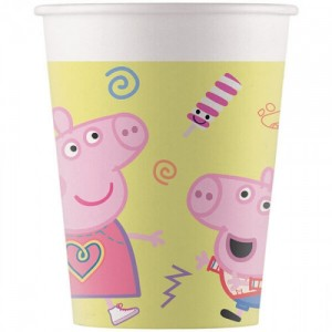 Peppa Pig Bicchieri 8 Pz.