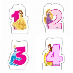 Candelina Numerale Principesse Disney
