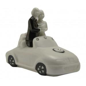 Statuina Sposi Strass in auto