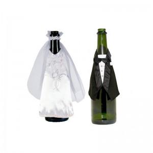 Vestito sposi per bottiglia