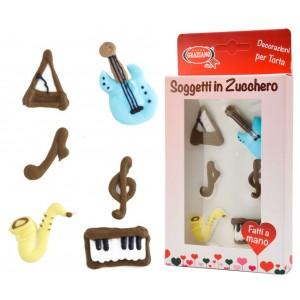 Soggetti strumenti musicali 6 pz