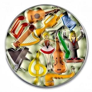 Tagliapasta Acciaio Strumenti Musicali Pz.12