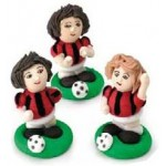 Set Calciatori Rossoneri 3 pz