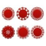 Centrino Rosso in feltro