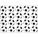 Cialda cupcake palloni di calcio