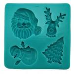 Stampo Quadrato Natale Silicone
