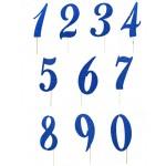 Numeri Glitter Blu