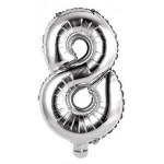 Palloncini Numero 8 argento