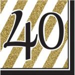 Tovaglioli 40 Black and Gold