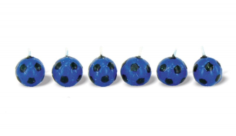 Candeline Palloni Neroazzurro 6 Pz.