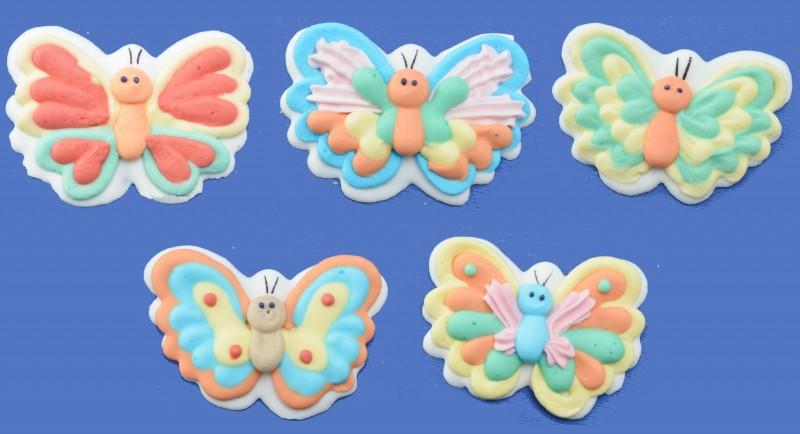 Set Farfalle in zucchero 5 pz.