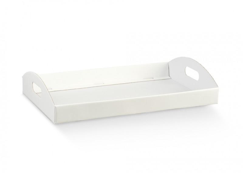 Cesto basso in cartone Bianco