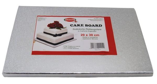 Cakeboard Sottotorta Argento Rettangolare
