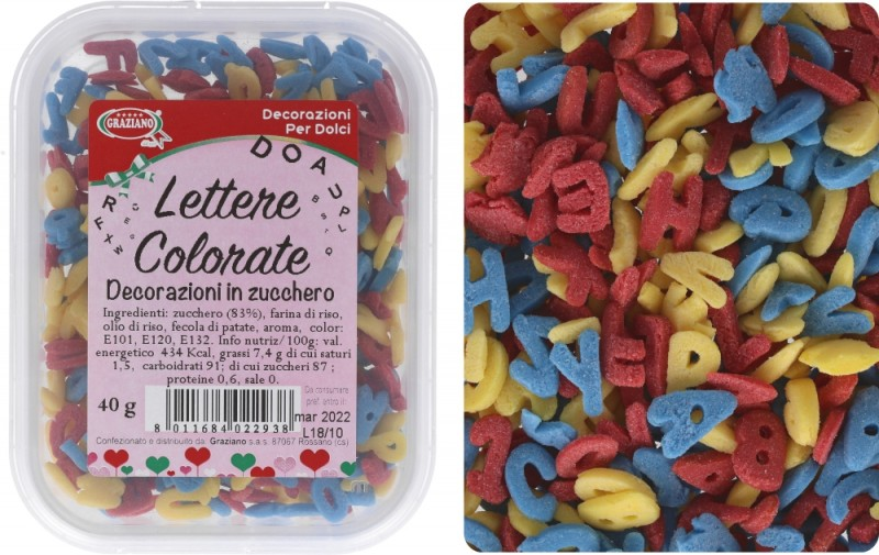 Lettere Colorate 40g