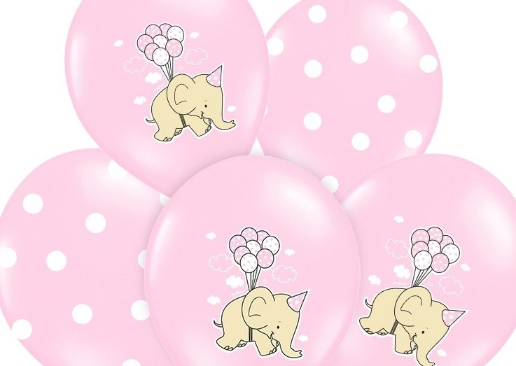 Lattice Baby Elefantino Rosa 50 Pz