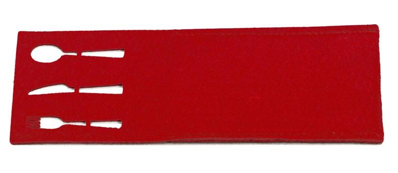 Portaposate in feltro rosso