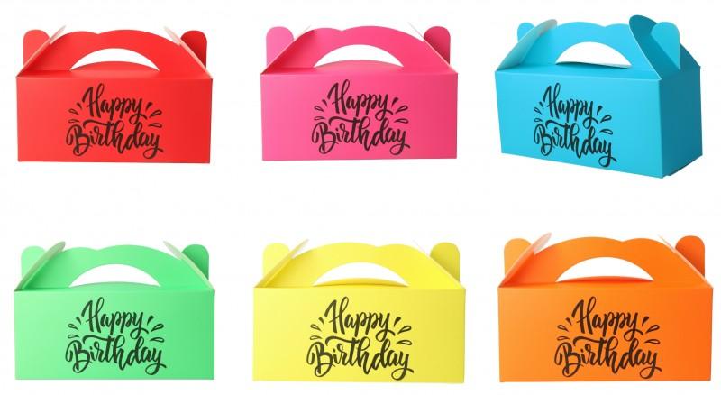 Scatola regalo Happy Birthday