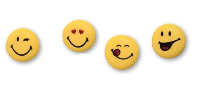Faccine Smileys in Zucchero 4 pz
