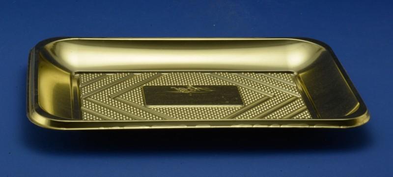 Vassoi Rettangolari Plastica Oro