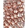 Cuoricini di cioccolato colore rosa gold