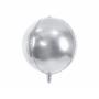 palloncino mylar sfera argento