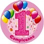 primo compleanno cialda torta