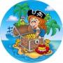 Cialda per torta di compleanno pirati Graziano