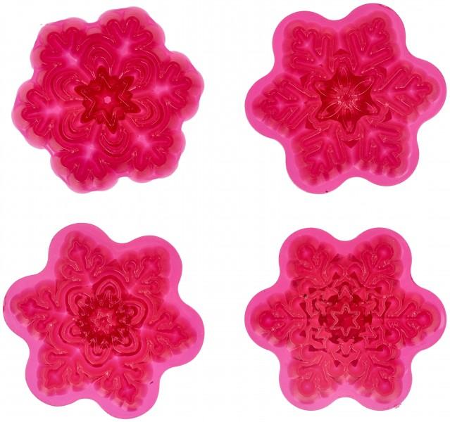 Formine per Cupcake Fiocco di Neve Pz.4