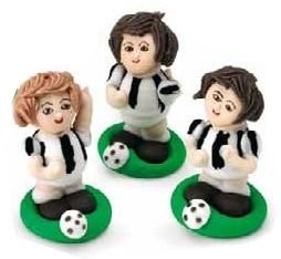 Set Calciatori Bianconeri 3 pz
