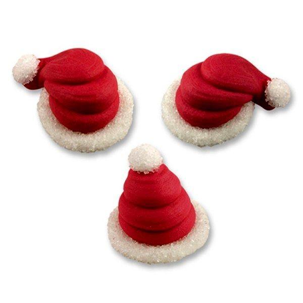 Cappellini Babbo Natale in zucchero 3 Pz.