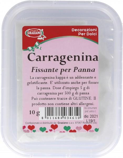 Carragenina (fissante per panna)
