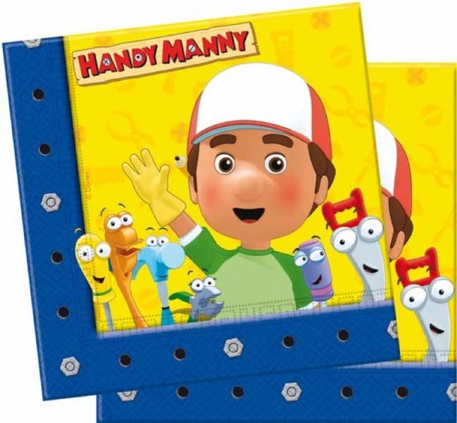 Handy Manny - Tovaglioli 33x33 cm 20 Pz.
