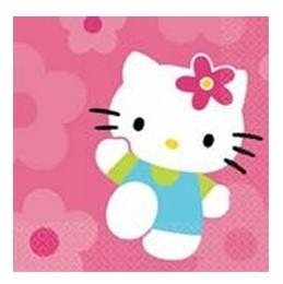 Hello Kitty Rosa- Tovaglioli 33x33 cm 20 Pz.