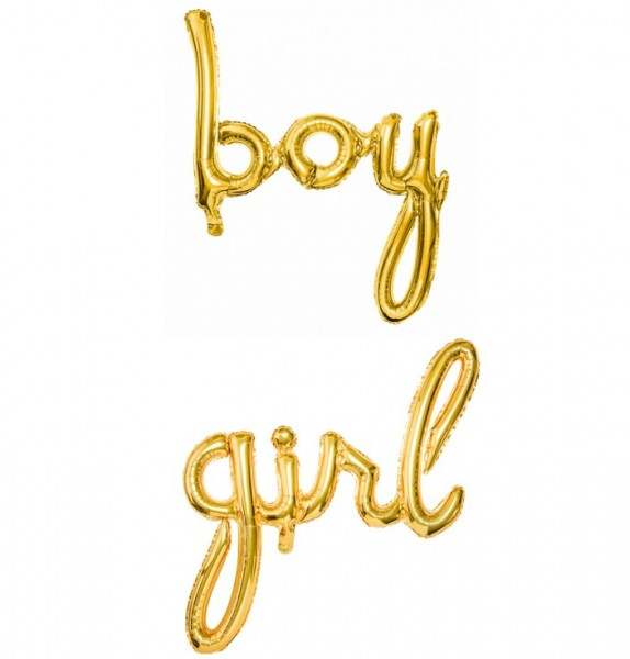 Boy e Girl scritta Supershape