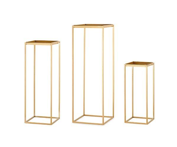 Set alzate quadrate oro 3 pz