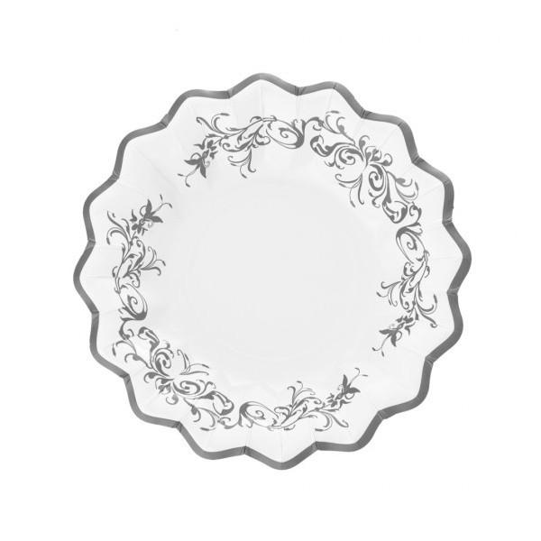 Piatti fondi Stile Silver Elegance 10 pz