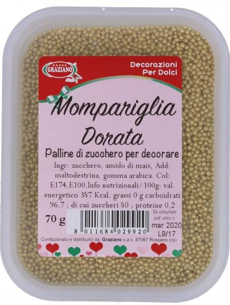 Mompariglia dorata 70g