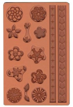 Stampo in Silicone Cerchi Floreali