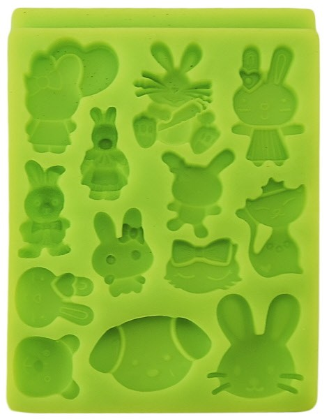 Stampo Silicone Coniglietti