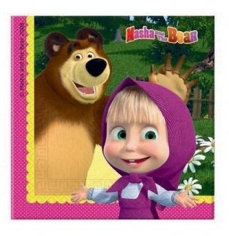Masha e orso tovaglioli