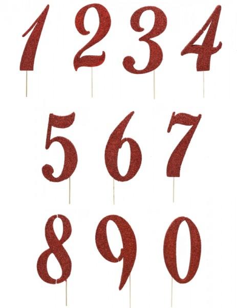 Numeri Glitter Rossi