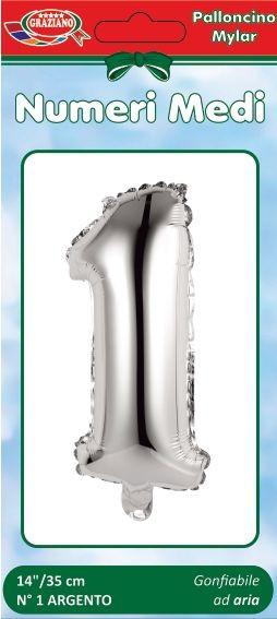 Palloncini numero 1 argento