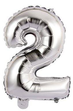 Palloncini Numero 2 argento