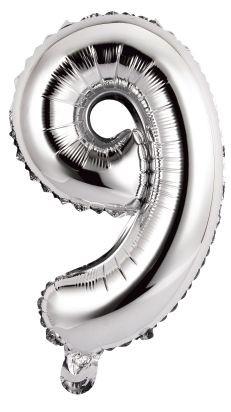Palloncini numero 9 argento